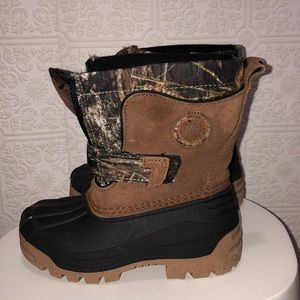 Toddler Ozark Trail Brown Suede & Camo Boot
